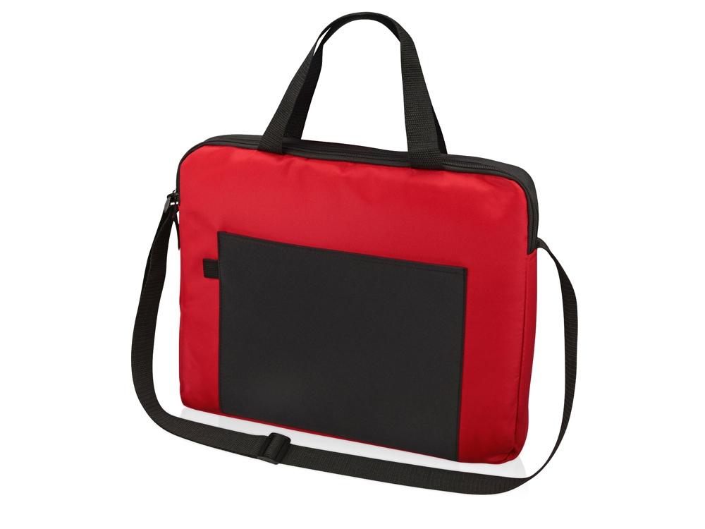 Конференц сумка для документов Congress, красный/черный