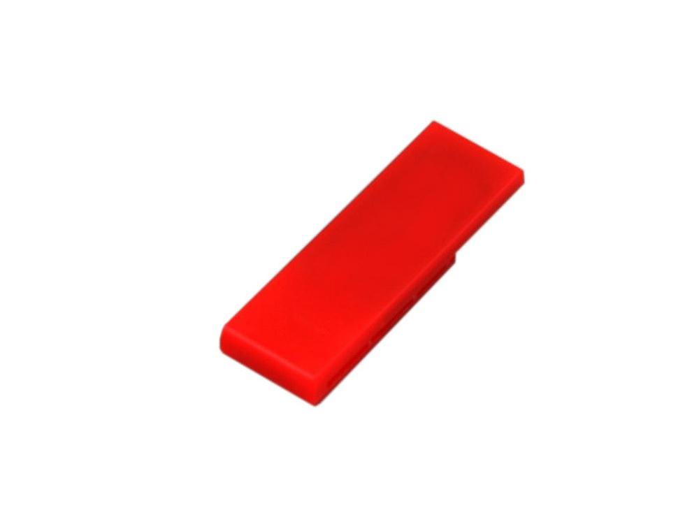 Флешка промо в виде скрепки, 16 Гб, красный