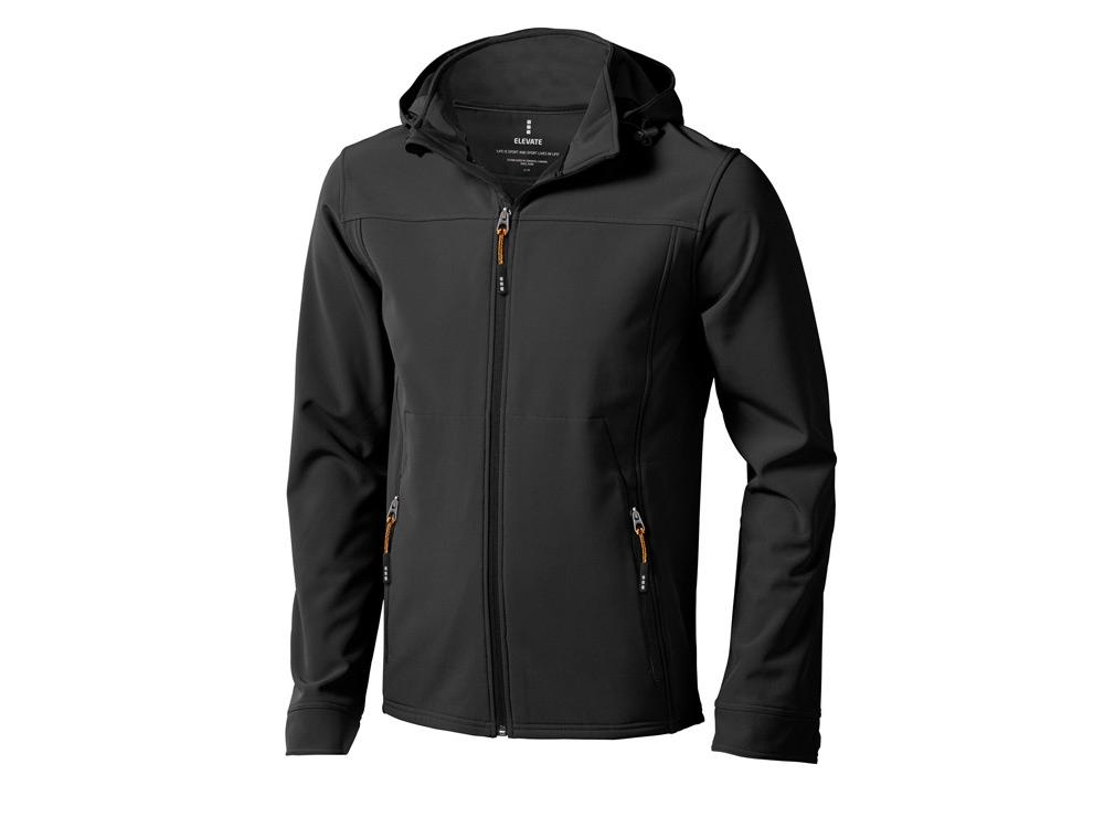 Куртка софтшел Langley мужская, антрацит