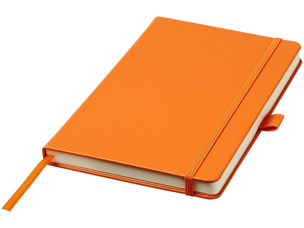 Записная книжка Nova форматаA5 с переплетом, оранжевый