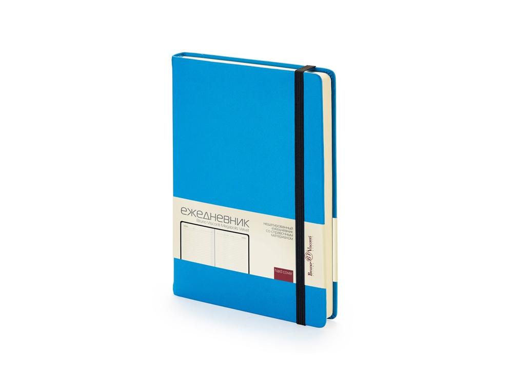 Ежедневник А5 недатированный Megapolis Velvet, синий флуор