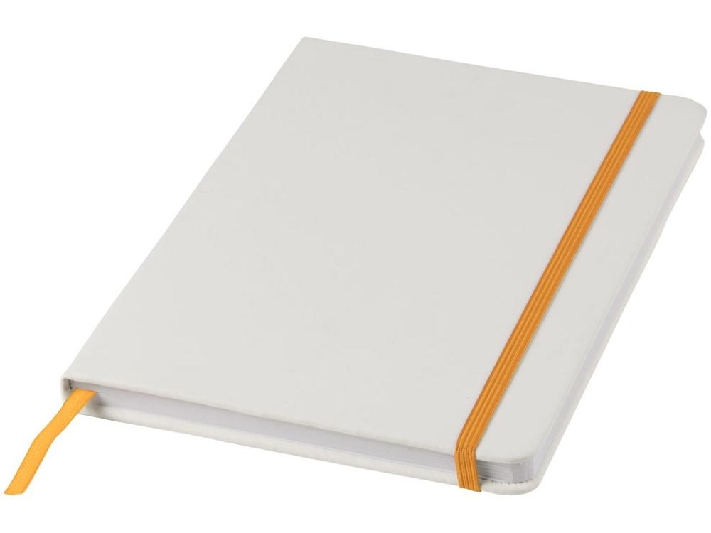 Блокнот А5 Spectrum, белый/оранжевый