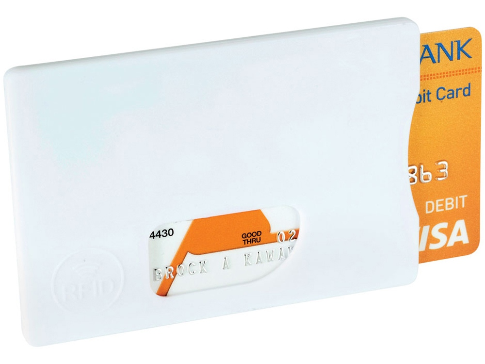 Защитный RFID чехол для кредитной карты, белый