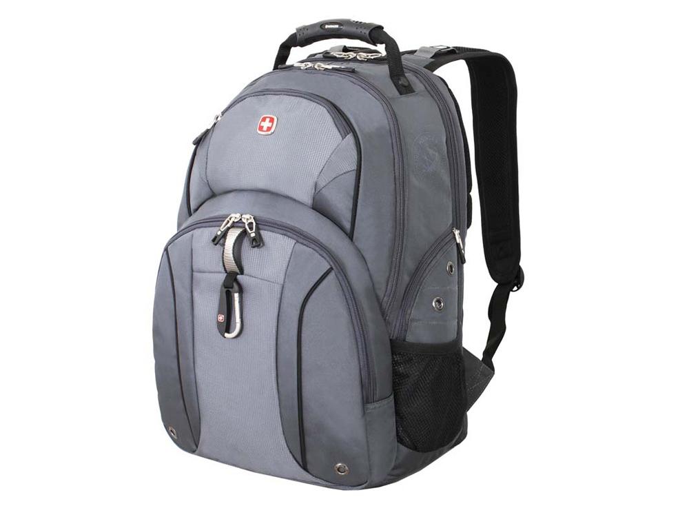 Рюкзак ScanSmart 26л с отделением для ноутбука 15. Wenger, серый/серебристый
