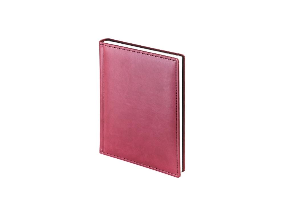 Ежедневник недатированный А6+ Velvet, бордовый