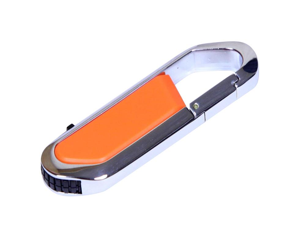Флешка в виде карабина, 64 Гб, оранжевый/серебристый