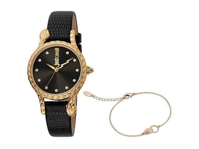 Подарочный набор: часы наручные женские, браслет (арт. 60011)