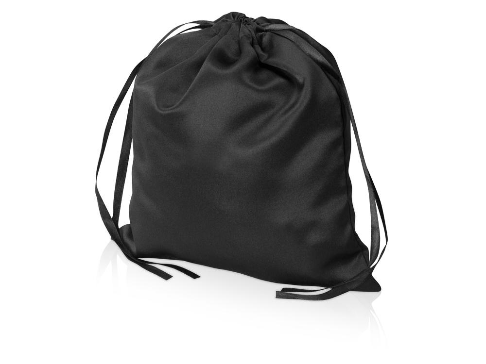 Мешочек подарочный сатиновый L, черный