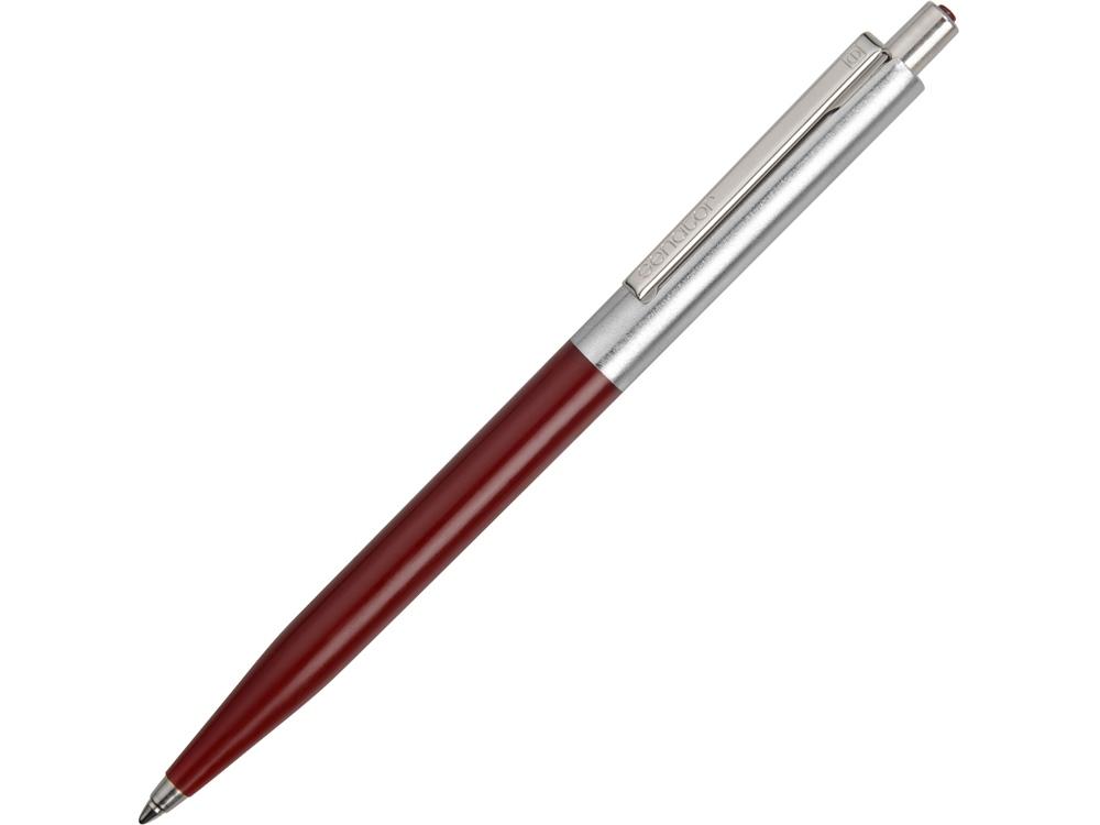 Ручка шариковая Senator Point Polished Metal, бордовый/серебристый