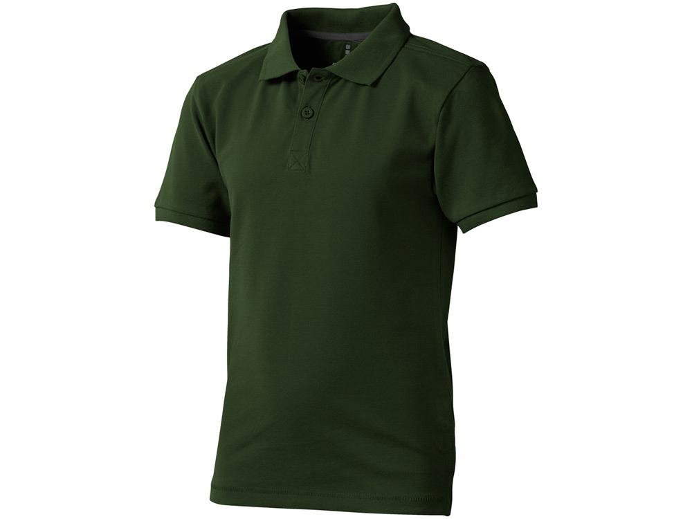 Рубашка поло Calgary детская, зеленый армейский
