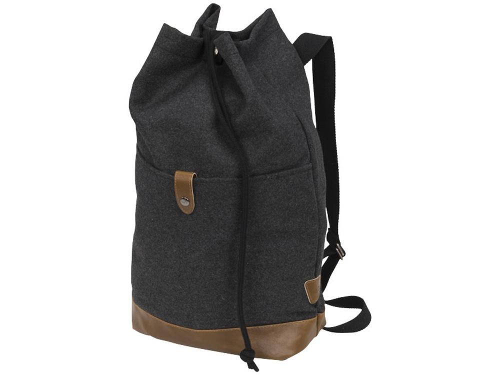 Рюкзак Campster со шнурками, темно-серый/коричневый
