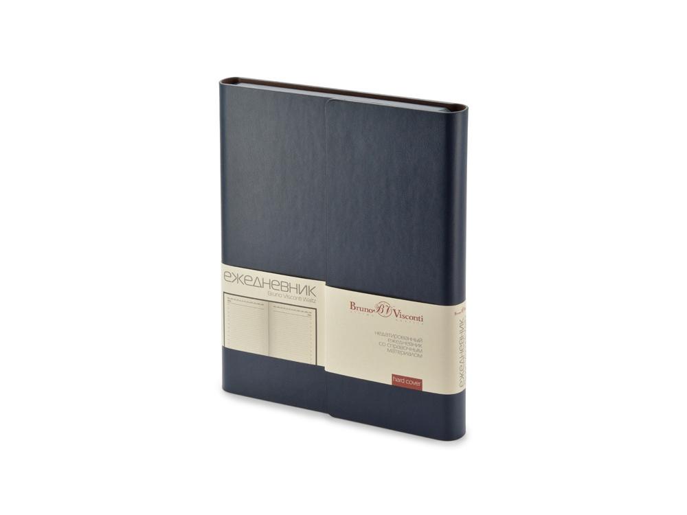 Ежедневник недатированный с магнитным клапаном, А5 WALTZ, темно-синий
