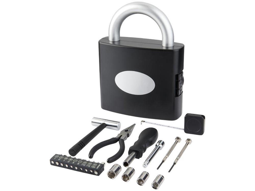 Инструментальный ящик с 21 инструментом Locky, черный