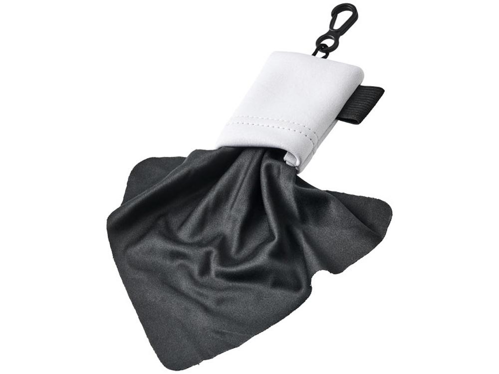 Очищающая салфетка Clear из микрофибры в чехле, белый