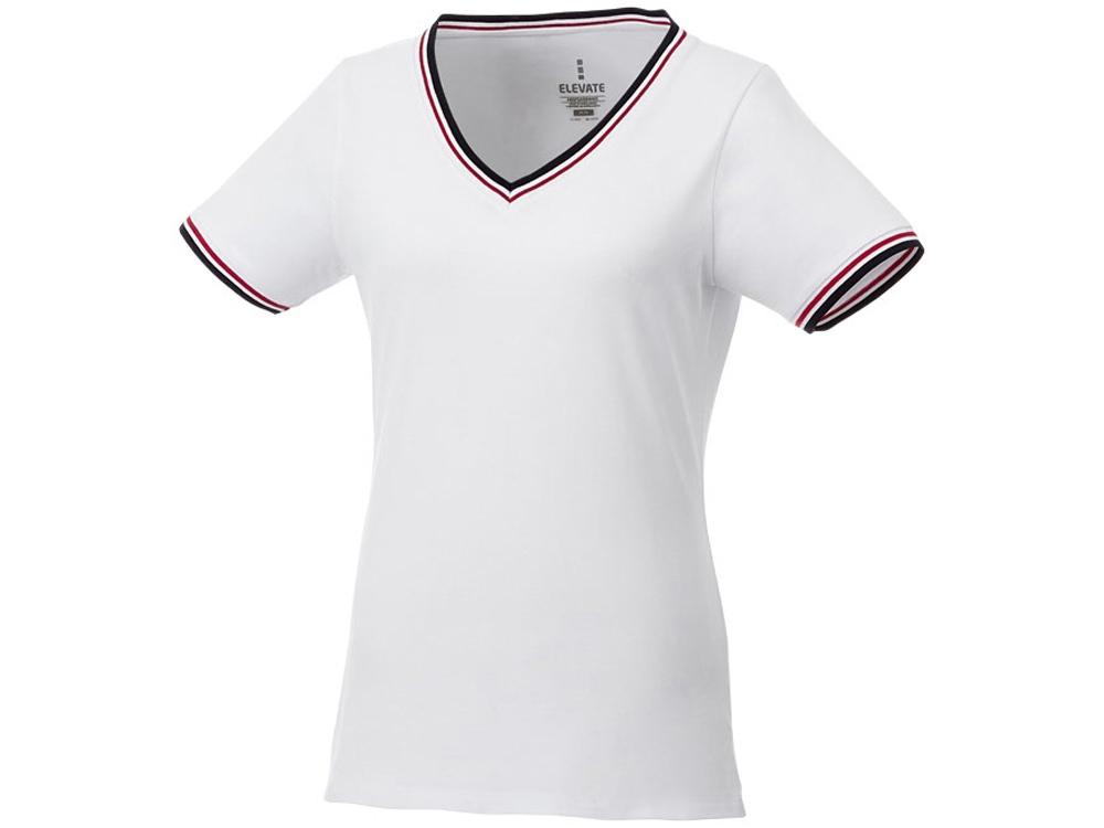 Женская футболка Elbert с коротким рукавом, белый/темно-синий/красный