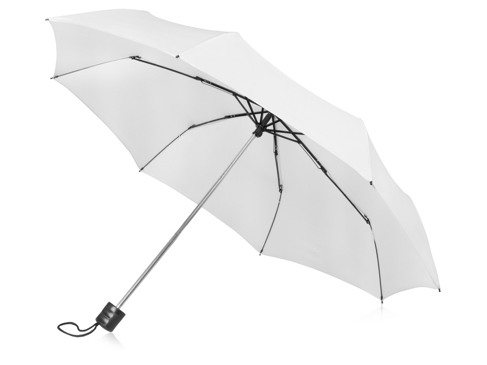 Зонт складной Columbus, механический, 3 сложения, с чехлом, белый