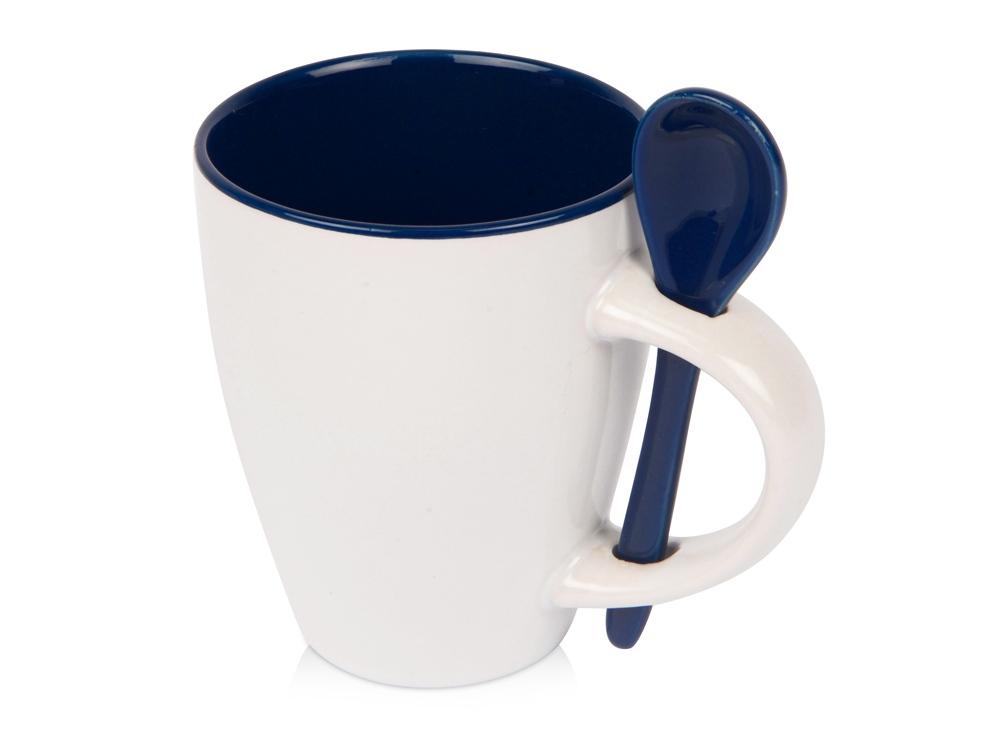 Кружка Авеленго с ложкой, синий