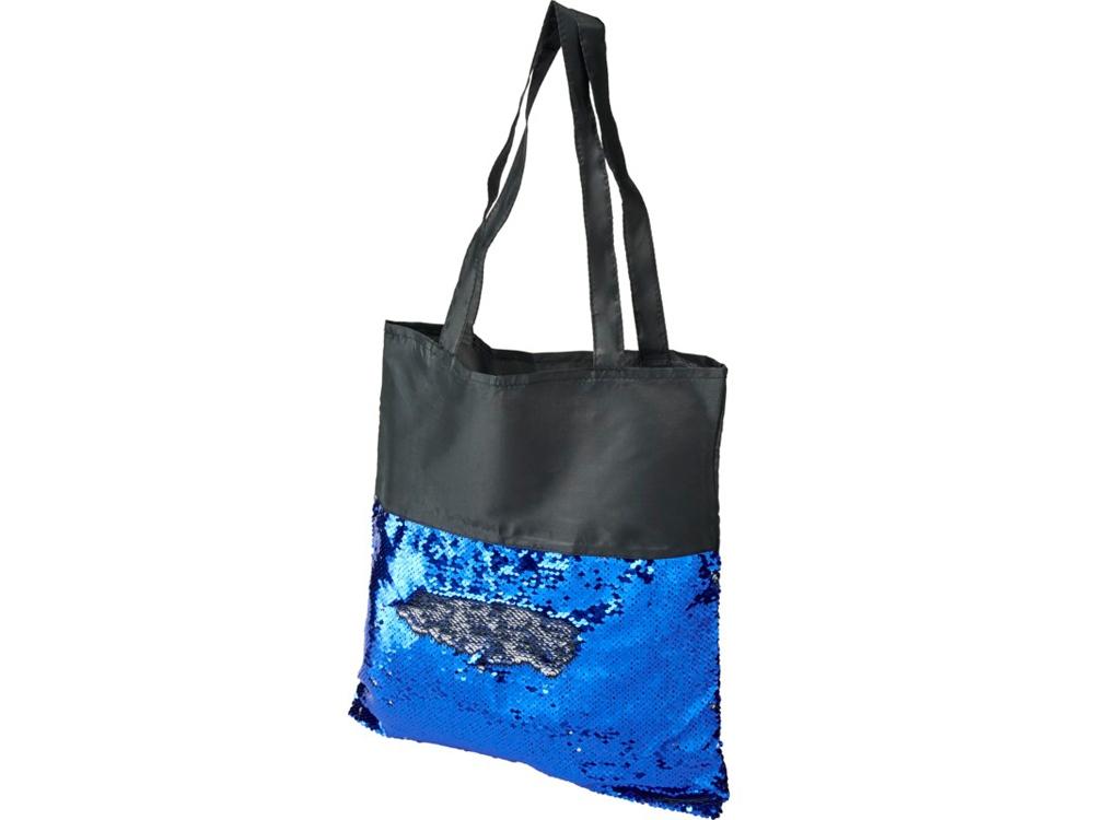 Сумка-шоппер Mermaid с блестками, серый/черный