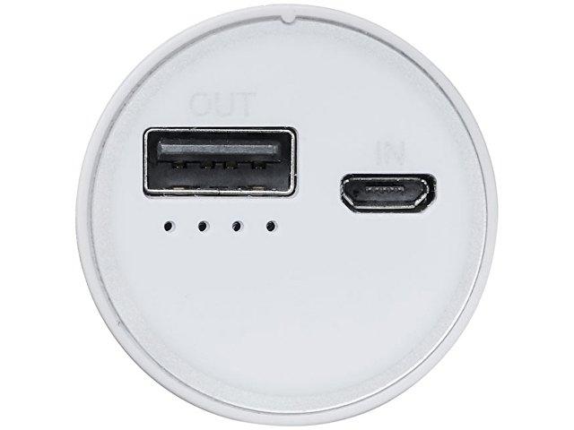Портативное зарядное устройство «Bliz», 6000 mAh с кабелем 2-в-1, серебристый
