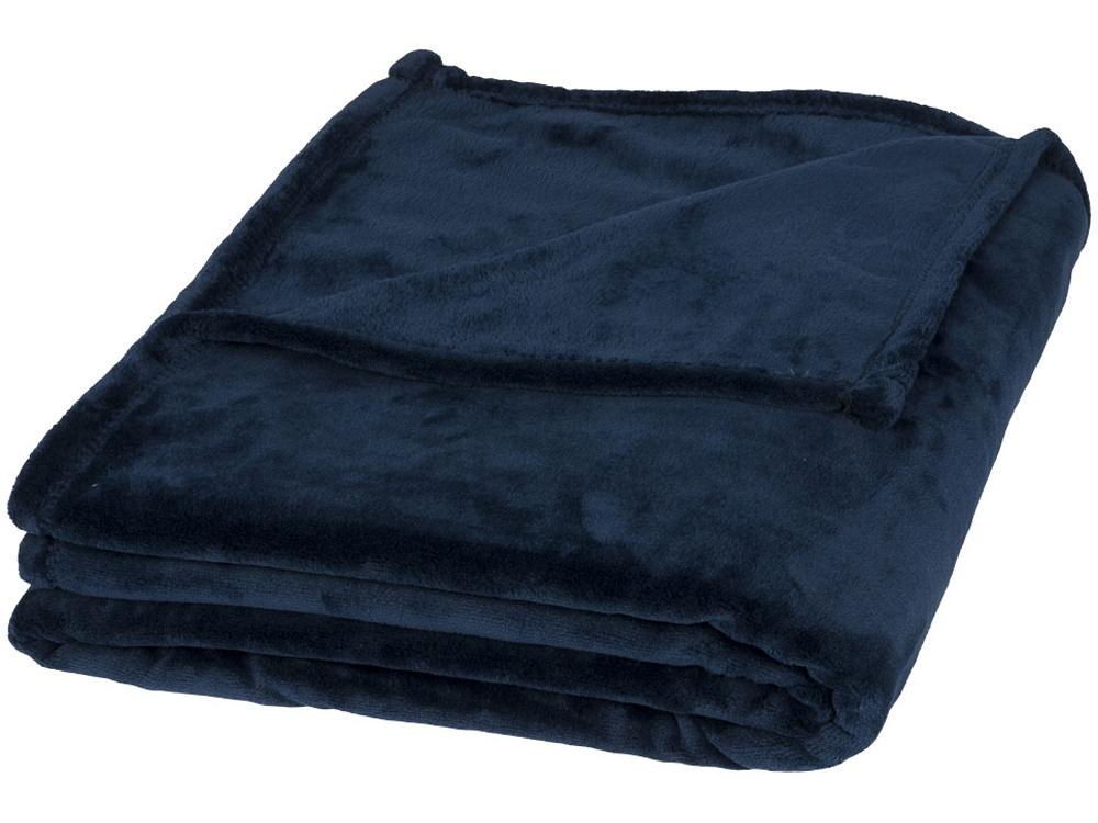 Негабаритный ультра-плюшевый плед Mollis, темно-синий