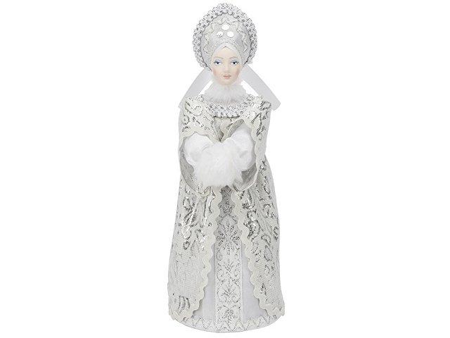 Набор: кукла-снегурочка, варежки «Новогоднее настроение», белый/голубой
