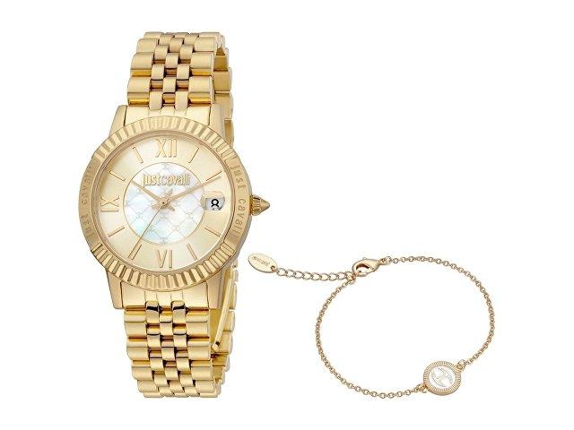 Подарочный набор: часы наручные женские, браслет (арт. 60012)