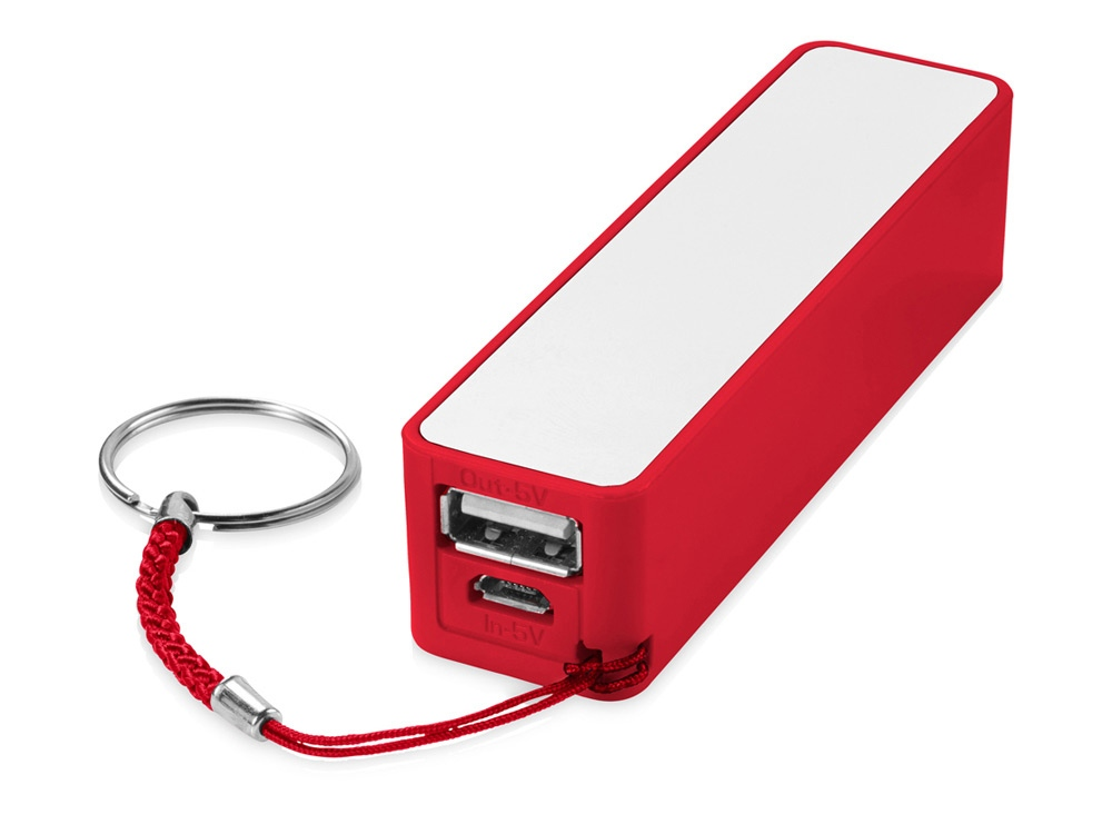 Портативное зарядное устройство Jive, красный/белый