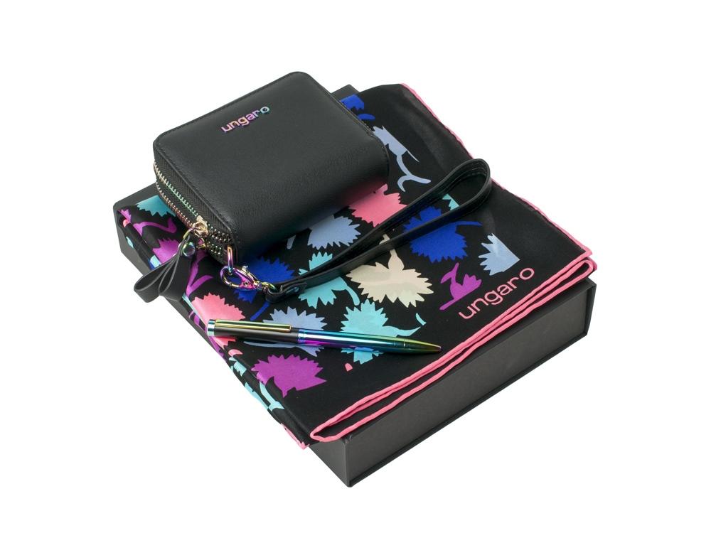 Подарочный набор: платок шелковый, кошелек дамский, ручка шариковая. Ungaro