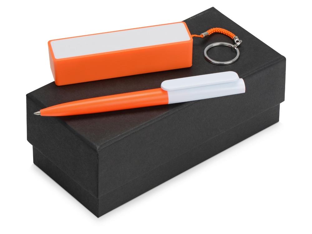 Подарочный набор Essentials Umbo с ручкой и зарядным устройством, оранжевый