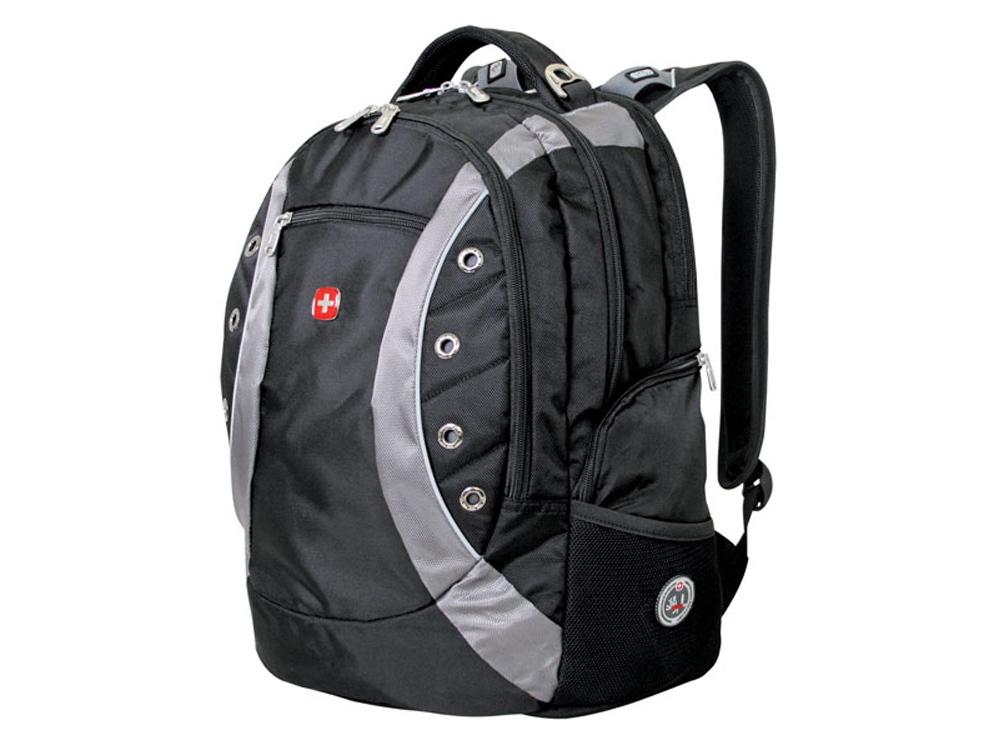 Рюкзак 35л с отделением для ноутбука 15. Wenger, черный/серый