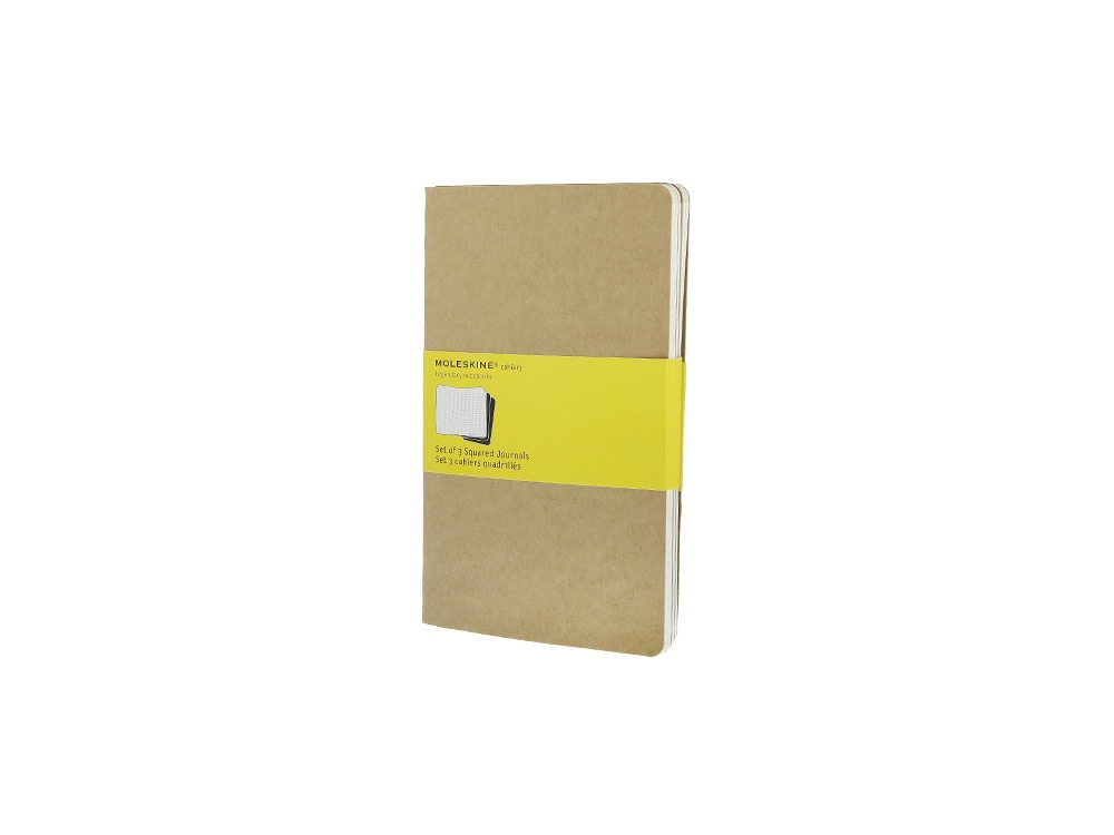 Записная книжка Moleskine Cahier (в клетку, 3 шт.), Large (13х21см), бежевый