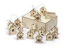 Елочная гирлянда с лампочками «Зимняя сказка» в деревянной подарочной коробке (арт. 625320)