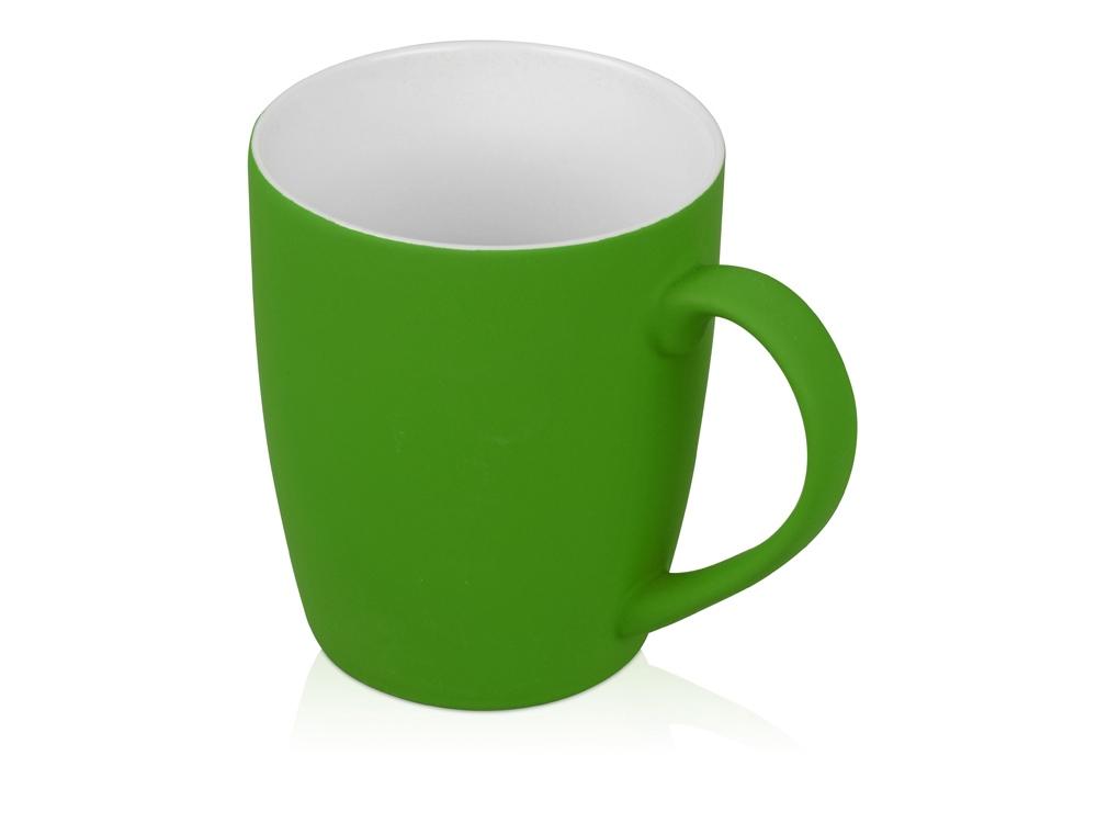Кружка керамическая с покрытием софт тач зеленое яблоко