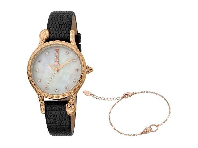 Подарочный набор: часы наручные женские, браслет (арт. 60009)