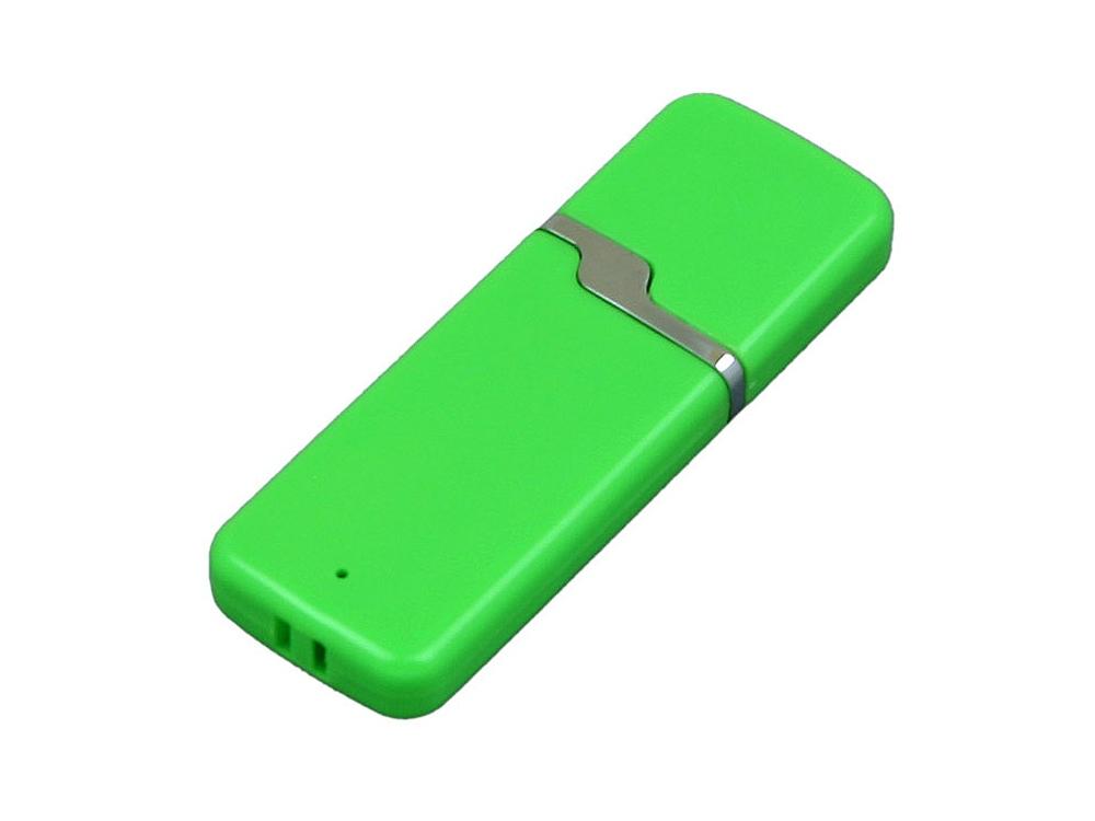 Флешка промо прямоугольной формы c оригинальным колпачком, 64 Гб, зеленый