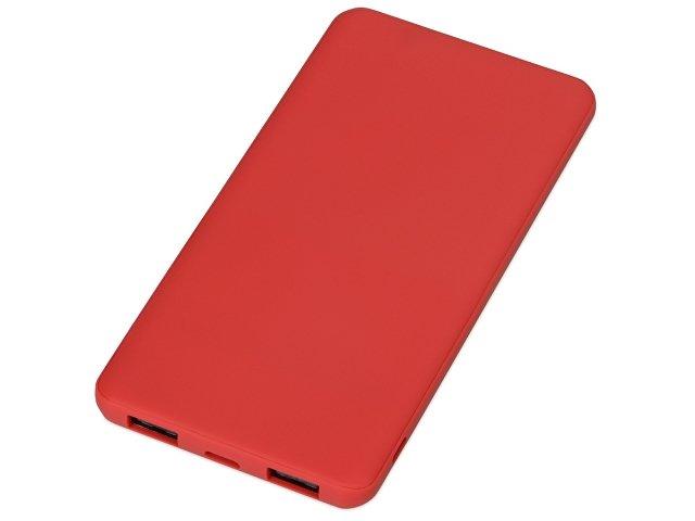 Портативное зарядное устройство «Reserve» с USB Type-C, 5000 mAh, красный