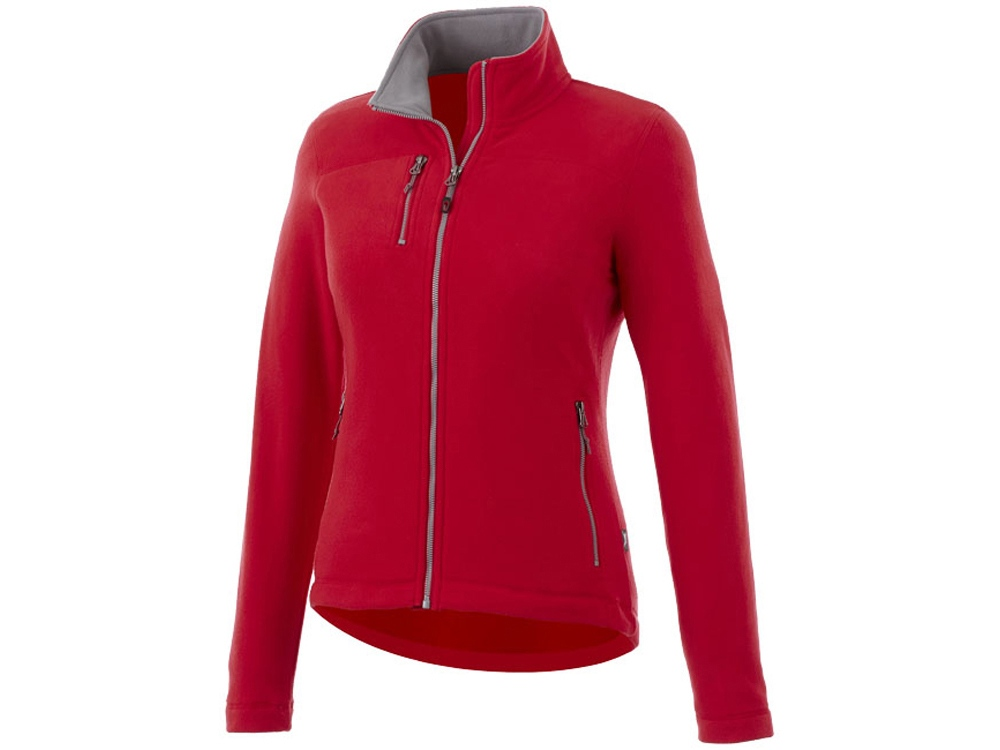 Женская микрофлисовая куртка Pitch, красный