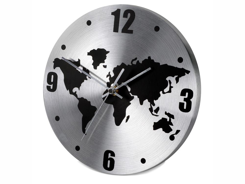 Часы настенные Торрокс, серебристый/черный