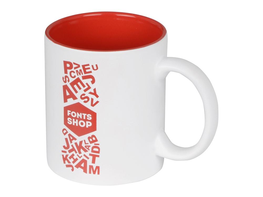 Кружка с покрытием для гравировки Subcolor W, белый/красный