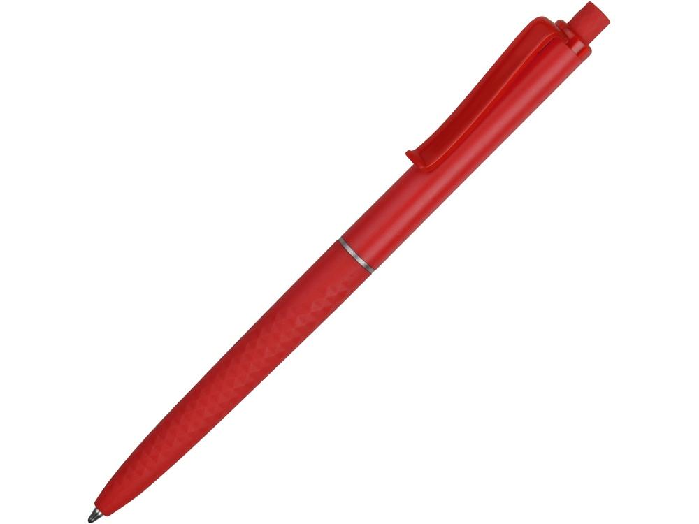 Ручка пластиковая soft-touch шариковая Plane, красный