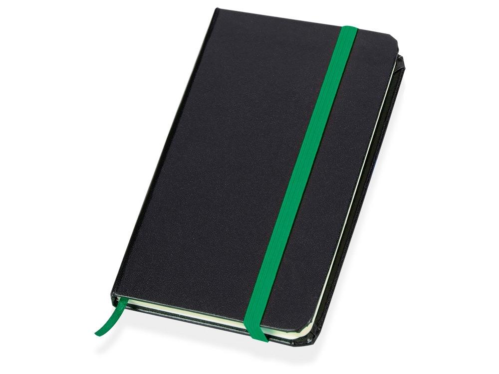 Блокнот Имлес, черный/зеленый