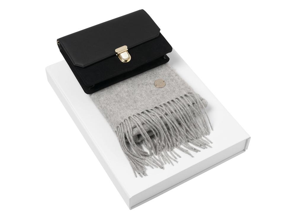 Подарочный набор: дамский клатч, шарф. Cacharel