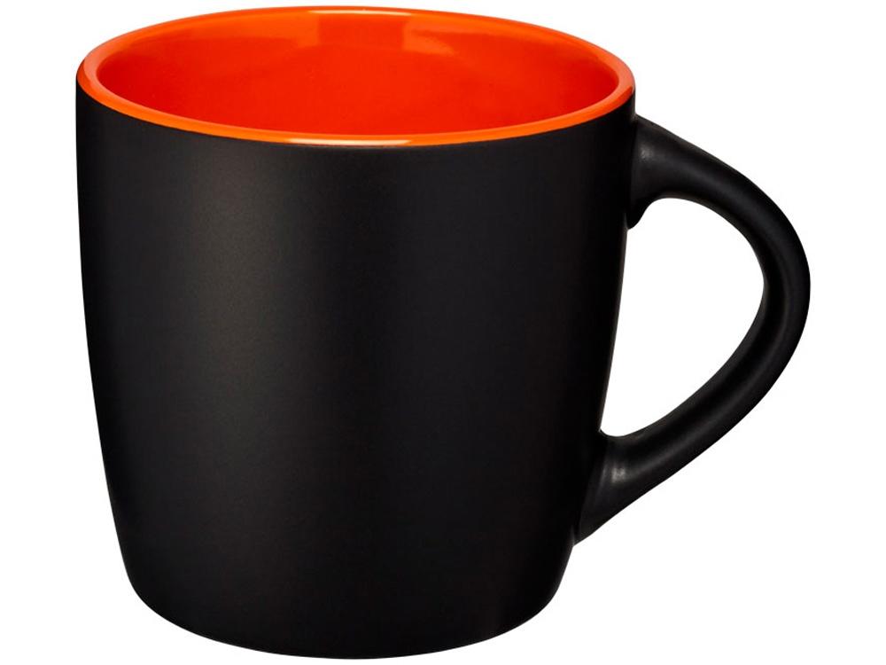 Керамическая чашка Riviera, черный/оранжевый