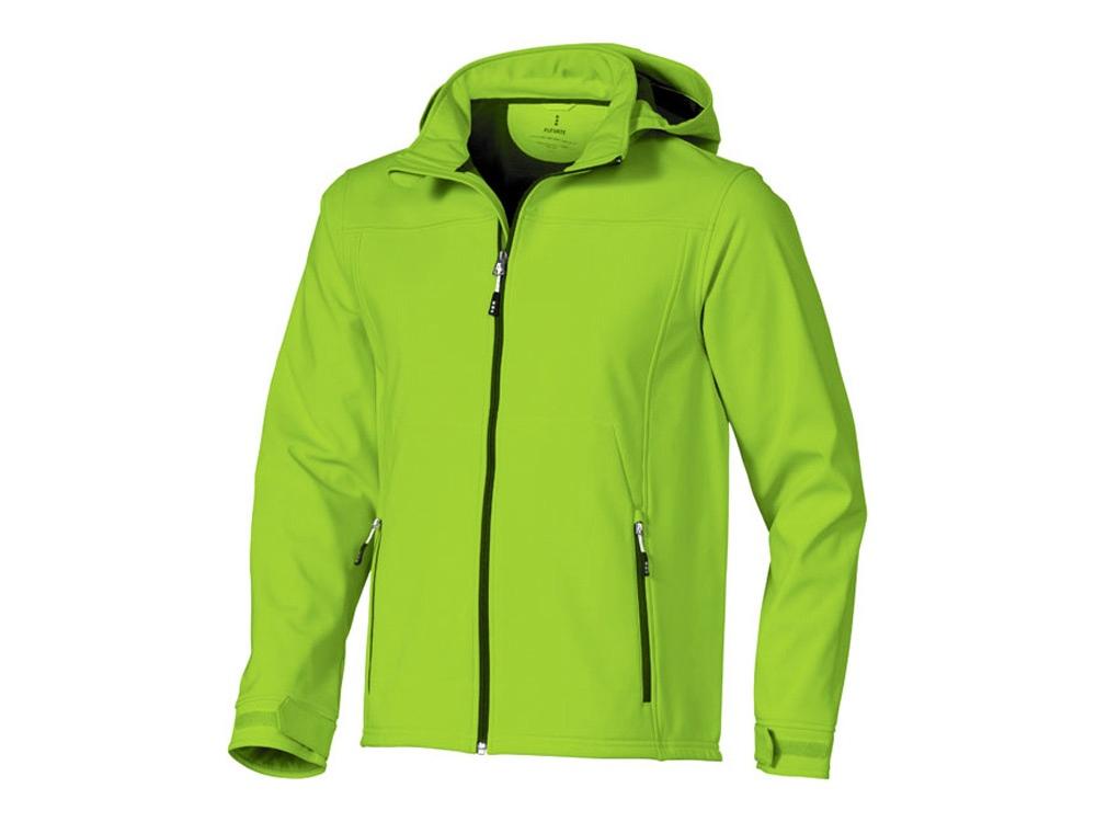 Куртка софтшел Langley мужская, зеленое яблоко