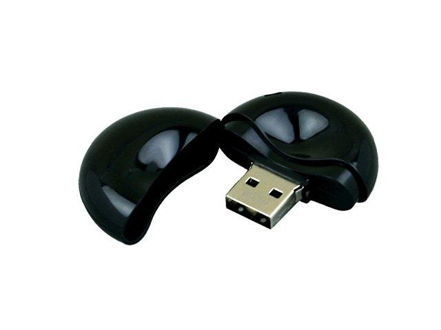 Флешка промо круглой формы, 64 Гб, черный
