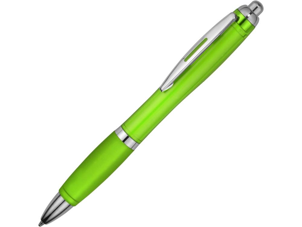 Ручка пластиковая шариковая Nash, зеленый, синие чернила