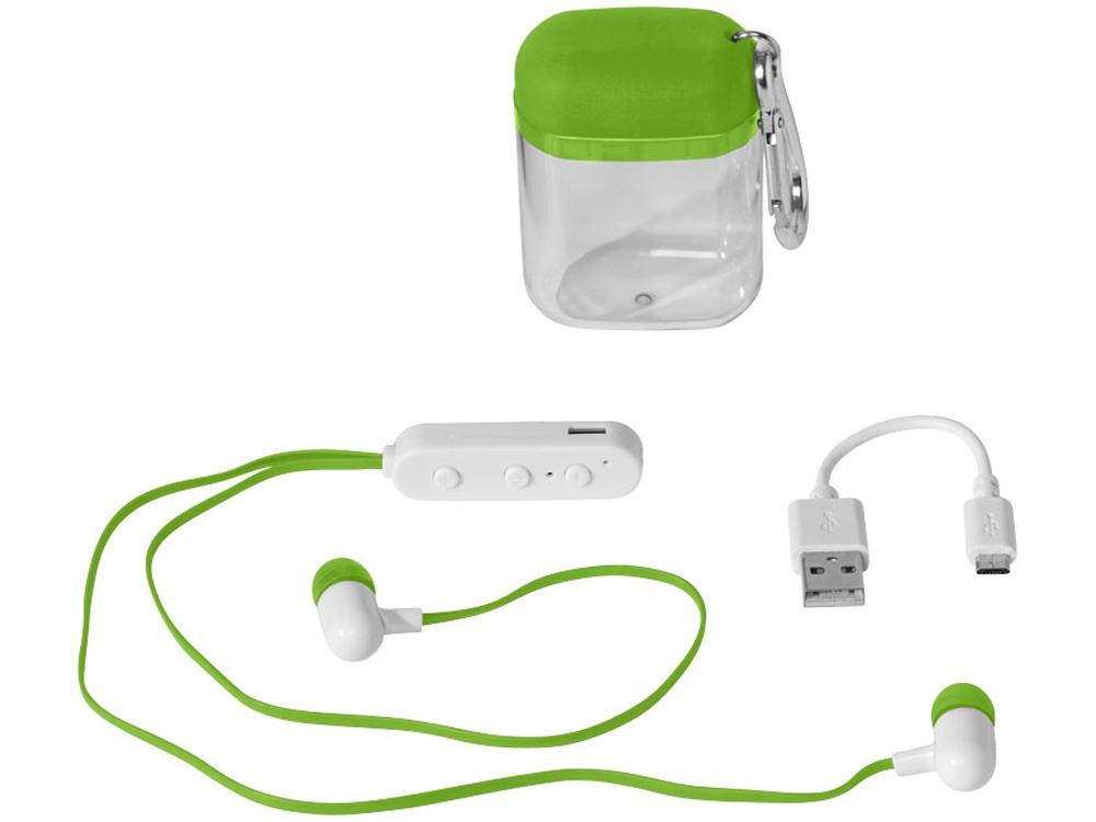 Наушники с функцией Bluetooth® с чехлом с карабином, лайм