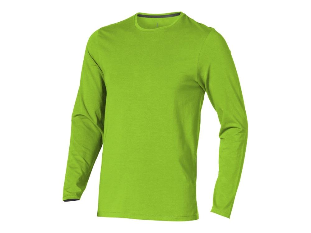 Футболка Ponoka  мужская с длинным  рукавом, зеленое яблоко