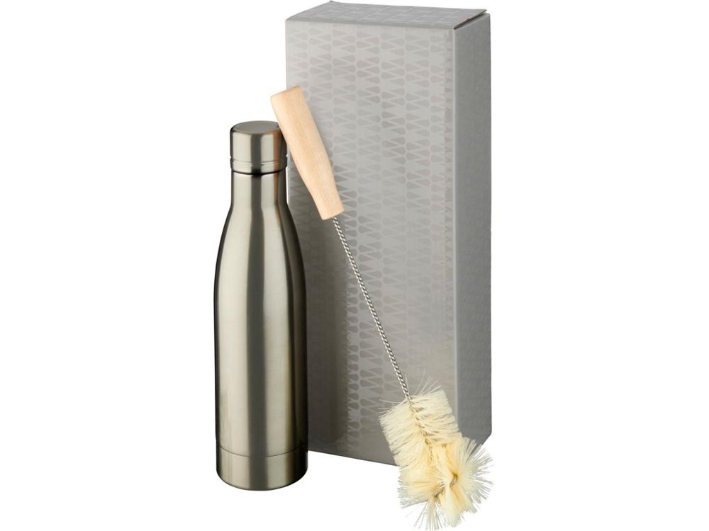 Набор из медной бутылки с вакуумной изоляцией Vasa и щетки, titanium
