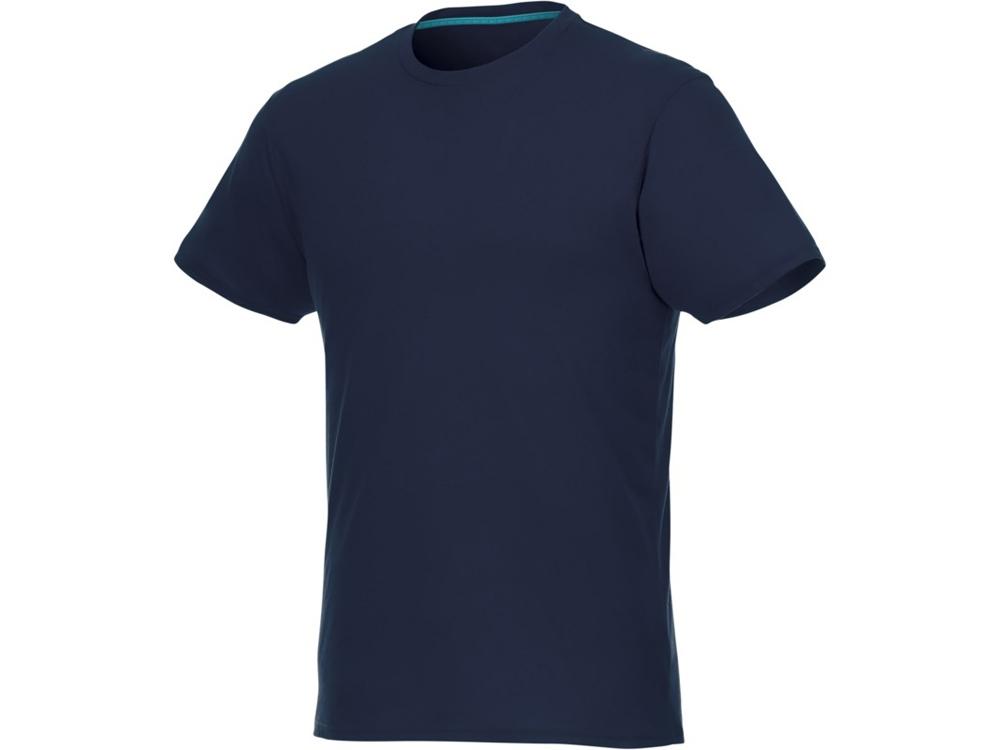 Мужская футболка Jade из переработанных материалов с коротким рукавом, темно-синий